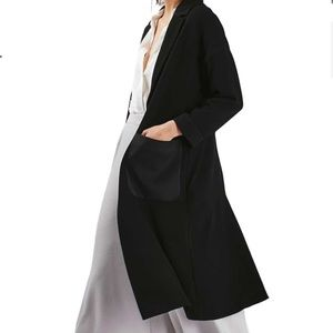 Satin Pocket Duster Coat